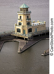 Yellow Lighthouse in Biloxi - Yellow Lighthouse - seen in...