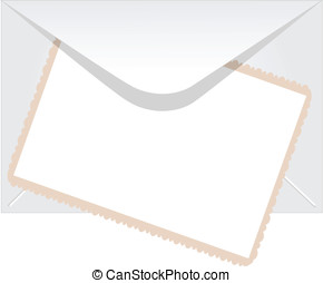 Envelope with empty photo - Envelope with empty vintage...