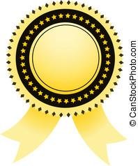 Vector golden Satisfaction Guaranteed label