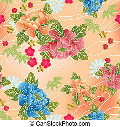 Seamless japanese traditional pattern Illustration vector
