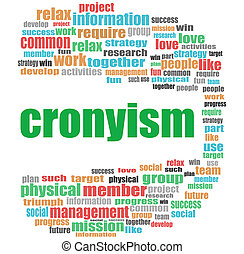 word cronyism. Business concept . Word cloud collage