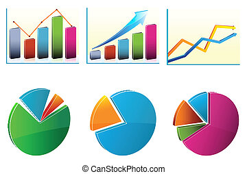 business growth charts - illustration of business growth...