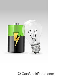 electronic bulb with battery