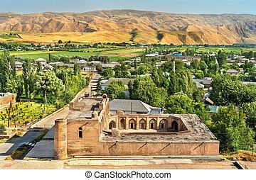 View of the New Madrasa near Hisor Fortress, Tajikistan -...