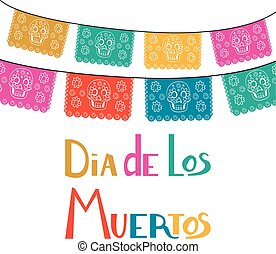 Dia de Los Muertos, Mexican Day of the Dead card,...