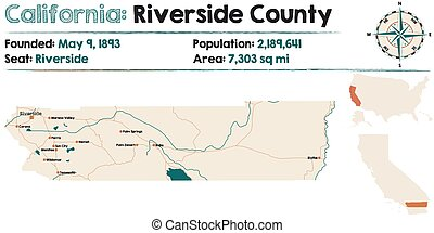 Riverside county - Large and detailed map of California -...