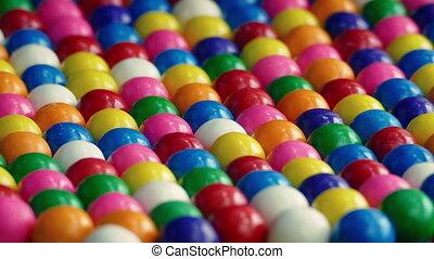 Bubble Gum Balls - Rows of bubblegum balls rotating