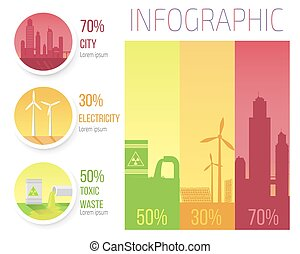 City Electricity Toxic Waste Infographic Poster - City...