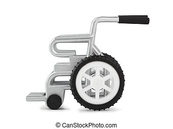 Wheelchair - Toy wheelchair isolated on white background
