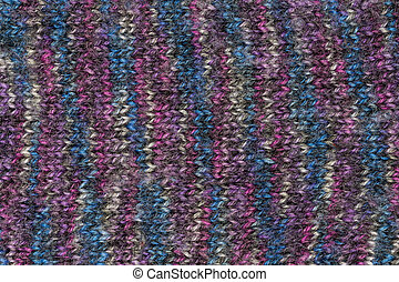 Knit structure with colorful colors.