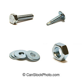 bolt, screw-nut, washer, screw