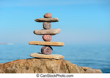 Balance of several stones - Balancing several of stones on...