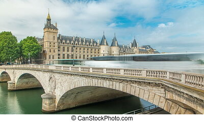 Castle Conciergerie timelapse - former royal palace and...