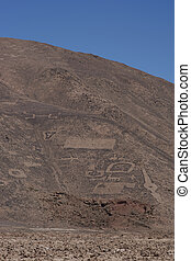 Ancient petroglyphs at Cerro Pintados - Large group of...