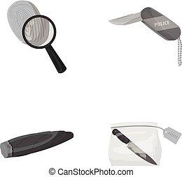 A fingerprint study, a folding knife, a cigar detective, a...