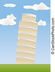 leaning tower in pisa - leaning tower