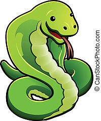 snake - An illustration of cute snake about to strike