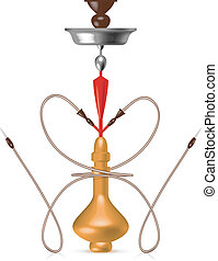 Hookah with a pipe in the form of heart