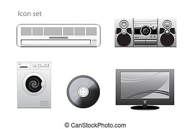 appliance icons set