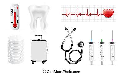Medicine icon set isolated on white background
