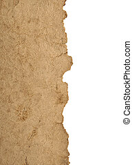 border old parchment paper with white background