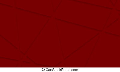 Abstract red stripes corporate polygonal video animation -...