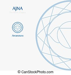 Ajna- The brow chakra which stands for awareness. The word...