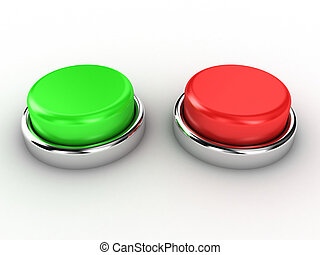 Buttons - Illustration of the red and green button