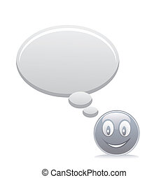 grey smiley with speech bubbles