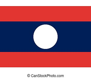 Colored flag of Laos