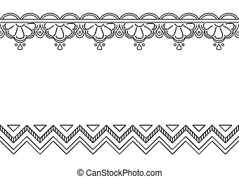 Abstract vector pattern, monochrome