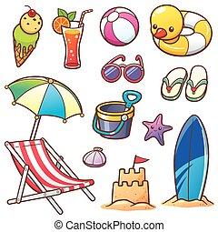 Summer Vacation - Vector illustration of Cartoon Summer...