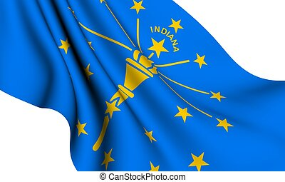 Flag of Indiana, USA