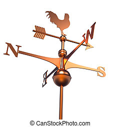 Weather Vane isolated over white - 3d render