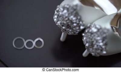 Wedding rings and shoes - Wedding rings and bridal shoes