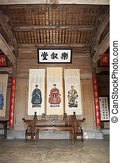 worship ancestors - a Chinese temple to worship ancestors