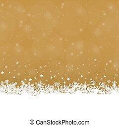 snow flakes background - white snow flakes on bottom side...