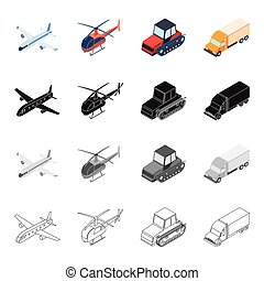 Air transport aircraft, helicopter, truck, agricultural...