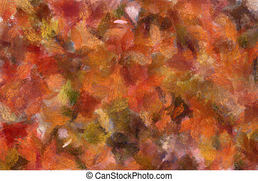 Fall Color Fuzzy Background (Oil Painting)