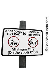 scoop the poop sign - warning sign for all dog owners to...