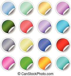 Sticky labels - A large collection of different coloured...