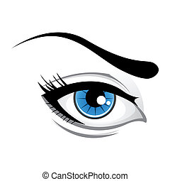 lady eye - illustration of lady eye  on white background