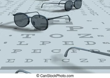 test, eye chart, visual acuity