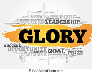 Glory word cloud, business concept