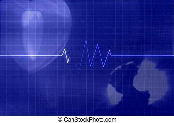 hospital, heart, monitor