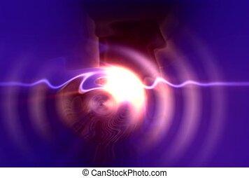 wave, light, illuminate