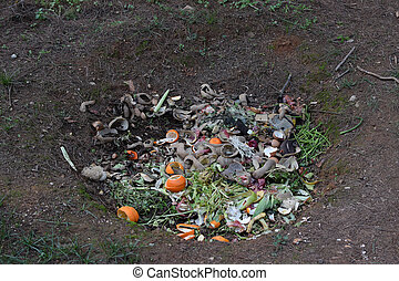 pit composting - Compost ground hole full of organic...