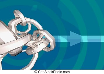 ring, arrow, linked