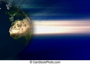 illuminate, sphere, light flash