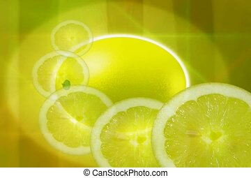 natural, lemon slice, food